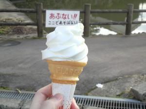 平泉寺のソフトクリーム3