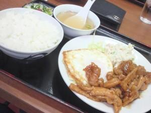 あっさり鳥唐定食(大陽食堂)